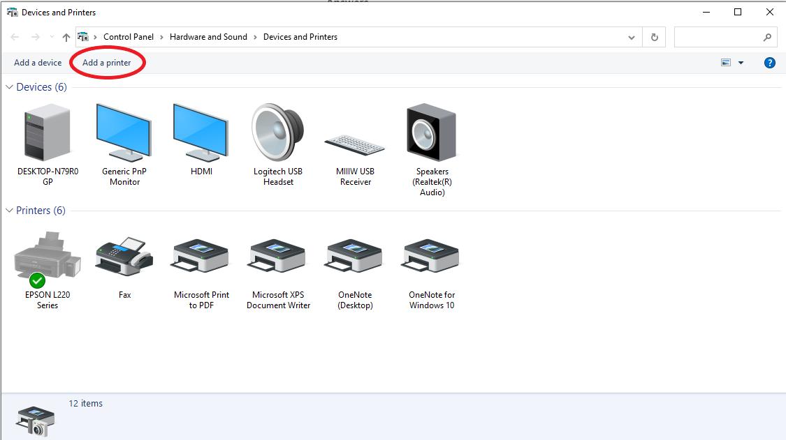add a printer windows 10