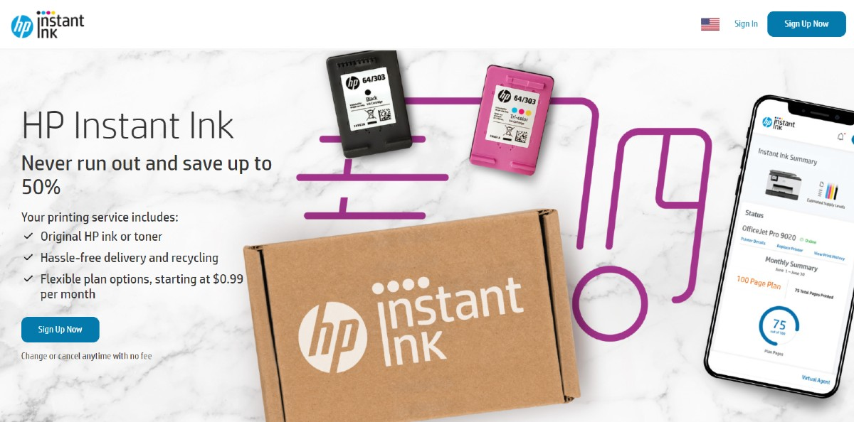 hp instant ink program