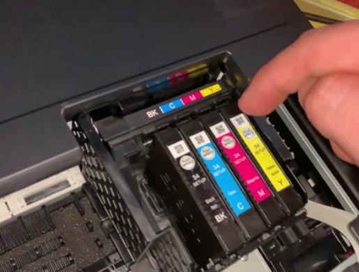 remove ink cartridges on epson workforce